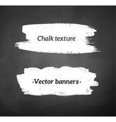 Chalked banners vector image