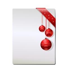 Christmas background with Christmas balls vector