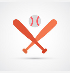 colored baseball icon vector image
