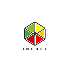 colorful cube logo sign symbol icon vector image