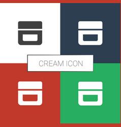 Cream icon white background vector