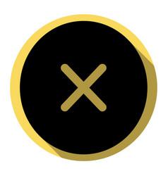 cross sign flat black icon vector image