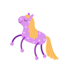 cute soft purple horse plush toy stuffed cartoon vector image