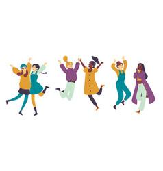 dancing people female dancers asian girls having vector image
