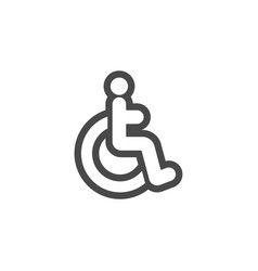 disabled icon design template isolated vector image