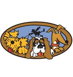 Dog walk vector
