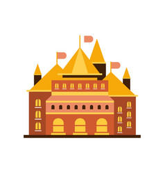 fairytale royal castle or palace building with vector image