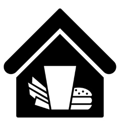 Fastfood Cafe Flat Icon vector