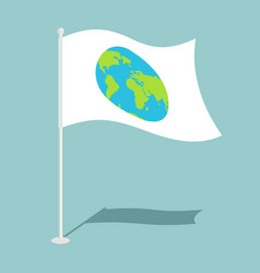 flag earth official national symbol of planet vector image vector image