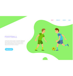 football players men wearing uniform playing game vector image
