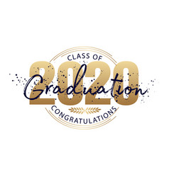 Graduation label text for graduation design vector