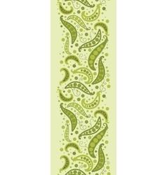 Green peas vertical seamless pattern background vector image