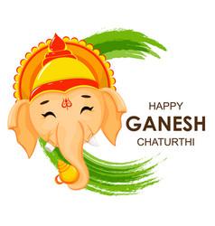 happy ganesh chaturthi greeting card vector image