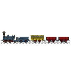 Historical steam train vector