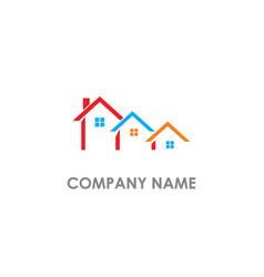 House real estate company logo vector