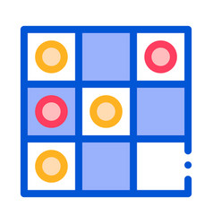 interactive kids game draughts sign icon vector image