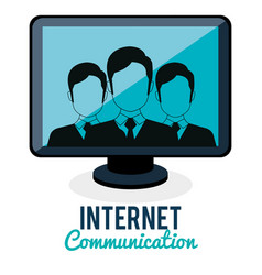 internet connection community group vector image