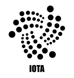 Iota icon simple style vector