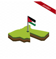 Jordan isometric map and flag vector