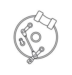 Line icon auto moto parts accessories brake vector