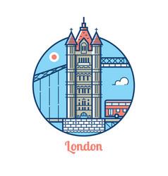 London bridge icon vector