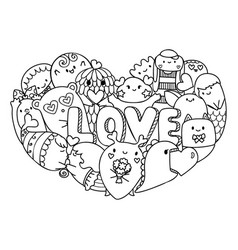 Love monsters vector