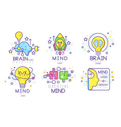 mind energy original logo design templates vector image