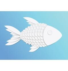 Paper fish vector