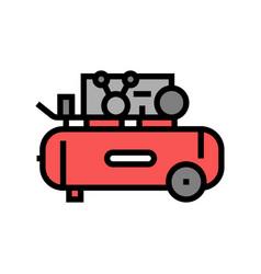 Piston air compressor color icon vector