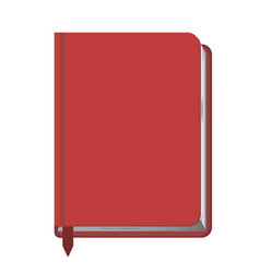 red book closed with a bookmark vector image