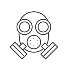 Respirator police related icon editable stroke vector