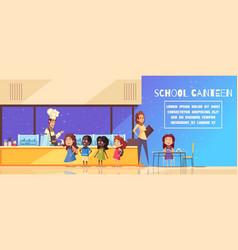 School canteen cartoon vector