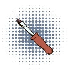 Screwdriver comics icon vector image
