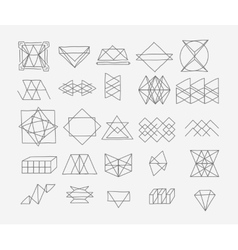 set geometric trendy hipster elements shapes vector image