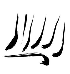 set of hand drawn design elements vector image