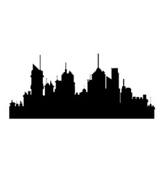 silhiuette building city urban skyscrapers vector image
