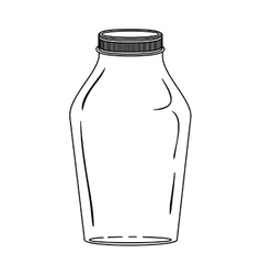 Silhouette glass jar with lid vector