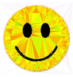 smile triangular low poly mosaic abstract pattern vector image