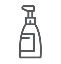 soap line icon cosmetic and wash bottle sign vector image
