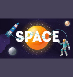 Space composition poster header vector