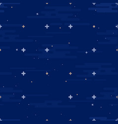 space print seamless pattern different vector image