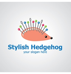 Stylish hedgehog vector