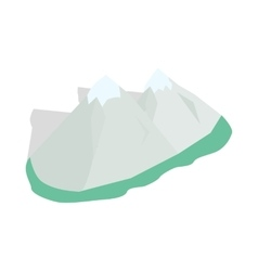 Swiss alps icon isometric 3d style vector