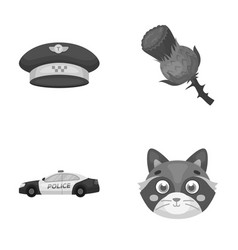 Taxi security and other monochrome icon in vector