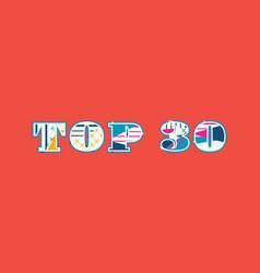 top 30 concept word art vector image