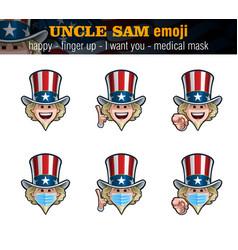 Uncle sam emoji - happy - index finger up - i vector