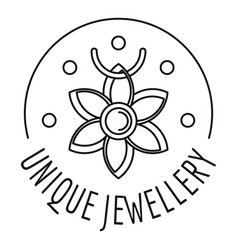 Unique jewellery logo outline style vector