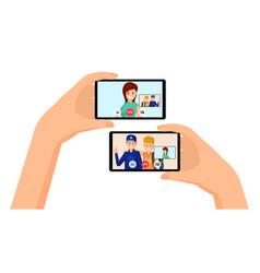 video call friends conversation vector image