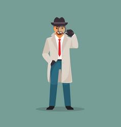 detective man vector image