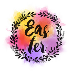 abstract greeting card for easter vector image